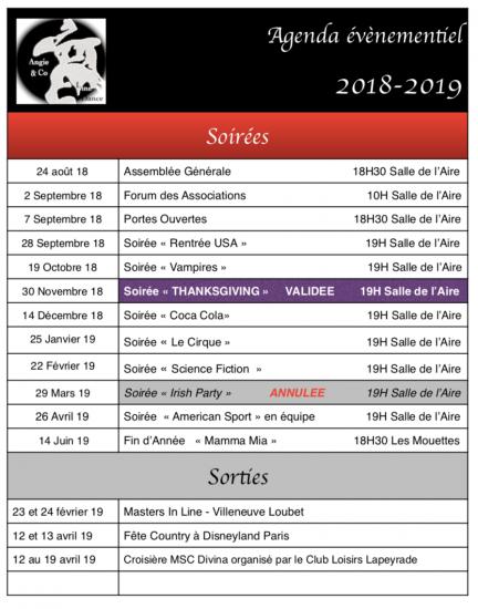 Evenementiel 2018 2019